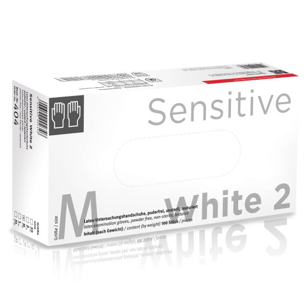 Sensitive White two Latexhandschuh, puderfrei